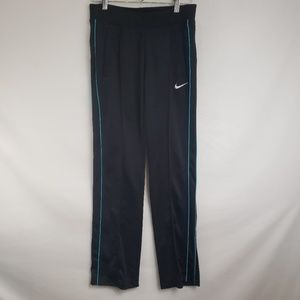 Nike Black Aqua Stripe Running Athletic Pantsc